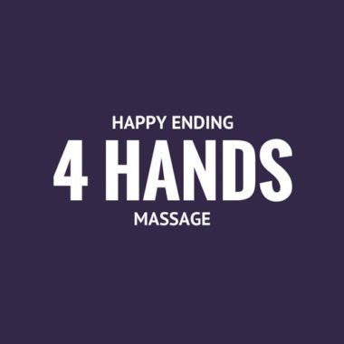 Learn about our happy ending 4 hands massage service